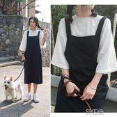 連身裙兩件套連身裙子韓版學生長裙春夏季學院風閨蜜甜美   萌萌小寵