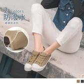 《SD0228》防潑水綁帶厚底餅乾鞋/休閒鞋 OrangeBear