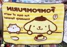 【震撼精品百貨】Pom Pom Purin 布丁狗~三麗鷗布丁狗日本毛毯/ 被子(100*70CM)-吃布丁#76021