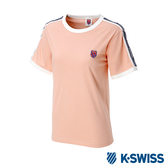 K-SWISS Soft Cool T-Shirt印花短袖T恤-女-粉紅