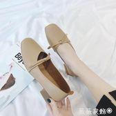 娃娃鞋 2018夏季新款韓版中跟復古奶奶鞋女淺口百搭粗跟方頭瑪麗珍單鞋潮 薇薇家飾