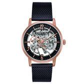 Kenneth Cole  奢華玫瑰金鏤空機械米蘭錶-KC50054008