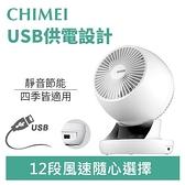 CHIMEI 奇美 DF-06AWUD 6吋DC渦流擺頭USB循環扇-天使白