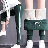 棉褲女冬 加絨運動褲子女學生寬鬆韓版ulzzang百搭休閒加厚羊羔絨