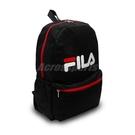 Fila 後背包 Logo Backpack 黑 白 男女款 運動休閒 基本款 【PUMP306】 BPT9001BK