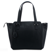 Kipling Basic皮革肩背托特包(黑色)460179-3