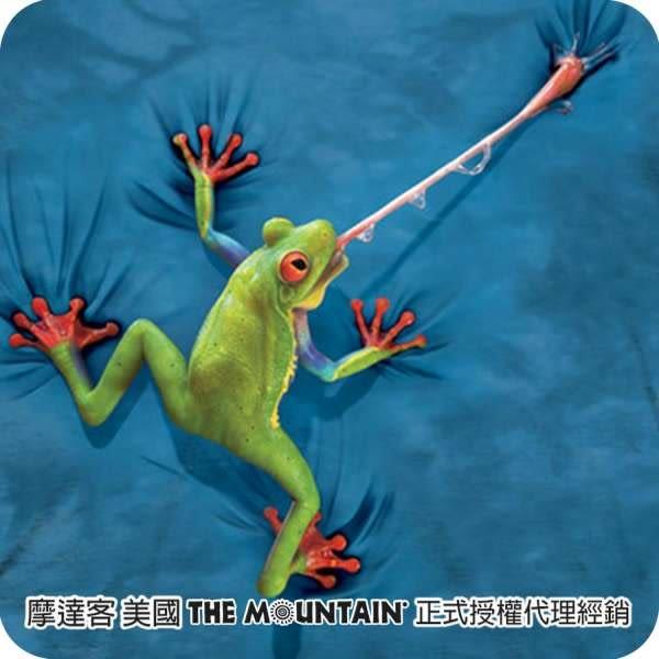 【摩達客】(現貨) 美國進口The Mountain 攀岩青蛙 純棉環保短袖T恤(10416045081a)