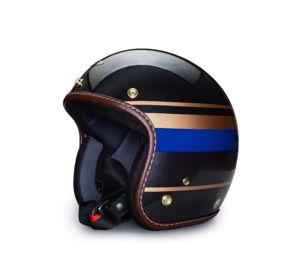 飛喬安全帽,復古帽,二行程永續協會聯名款,華德(WARD)/亮光石墨藍