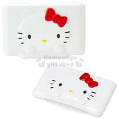 〔小禮堂〕Hello Kitty 濕紙巾蓋子《紅.大臉》可重複使用 4560319-04388