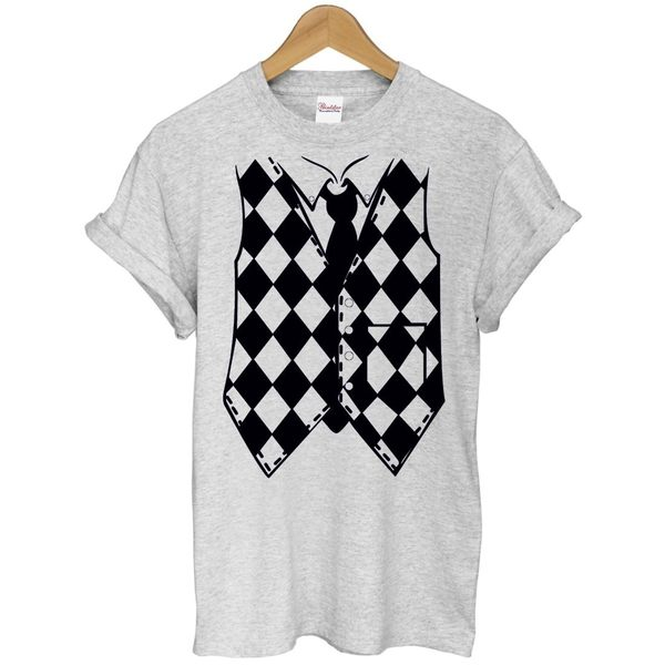 Vest假背心短袖T恤 2色 趣味幽默設計攝影照相時尚潮搖滾性感街頭韓時尚滑板人物290 gildan t