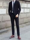 找到自己品牌 韓國男 兩件式西裝修身外套 成套西裝外套 西裝外套 外套+褲子