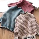 2019秋冬新款女童毛衣洋氣兒童套頭加絨加厚高領中大童針織打底衫 小艾時尚