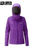 【速捷戶外】英國 RAB QWF-63 Downpour Jacket 女高透氣連帽防水外套(魔鬼茄紫),登山雨衣,防水外套
