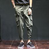 時尚側邊立體口袋造型車線反摺休閒長褲(三色)【DMA88900】