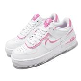 Nike 休閒鞋W AF1 Shadow 白 粉紅 女鞋 運動鞋 皮革鞋面 【PUMP306】 CI0919-102
