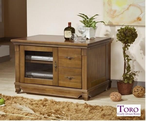【TORO】維也納樟木全實木3尺電視櫃 (F583)