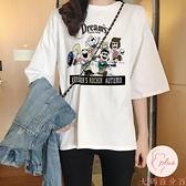 短袖上衣女大碼夏季新款寬松白色t恤純棉學生半袖【大碼百分百】