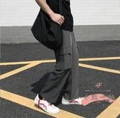 工裝褲 港風ins潮牌闊腿工裝褲男寬鬆休閒直筒夏季薄款復古垂感九分褲子 LW1583