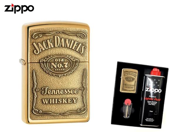 【寧寧精品】Zippo 原廠授權台中30年旗艦店 防風打火機送禮盒組 傑克丹尼爾斯*威士忌浮雕款 5312-2