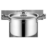 不銹鋼鍋304不銹鋼湯鍋20cm加高加厚不粘鍋具雙耳燉鍋電磁爐通用 居享優品
