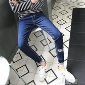 秋冬季男士修身個性做舊日系款修身小腳休閒褲男牛仔褲小直腳   草莓妞妞