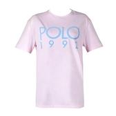 【南紡購物中心】Ralph Lauren POLO膠字圓領短袖T恤-粉