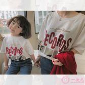 2019春裝新款兒童T恤韓版女童棉質短袖寬松上衣親子款
