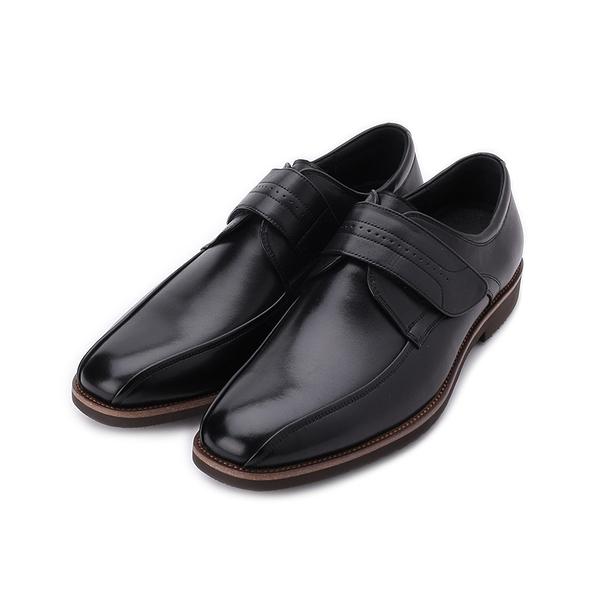 BONJO 真皮方頭氣墊紳士皮鞋 黑 男鞋