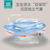 游泳圈 可優比嬰兒脖圈寶寶游泳圈新生兒柔軟充氣頸圈防後仰加厚雙氣囊 創想數位DF
