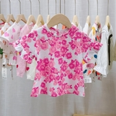 寶寶短袖t恤女童上衣夏女嬰兒夏裝小童打底衫純棉薄女孩洋裝1-3歲