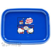 〔小禮堂〕Hello Kitty 日製塑膠托盤《S.藍.對話》超止滑 4970825-11220