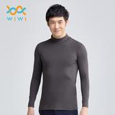 【WIWI】MIT溫灸刷毛立領發熱衣(銀河灰 男S-3XL)