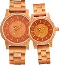 shifenmei【日本代購】復古懷舊木錶 情侶手錶 男女對錶 圓形字母 一對S5557-02