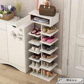 簡易鞋柜 多層鞋架簡易家用經濟型鞋柜收納仿實木省空間門口小鞋架子置物架