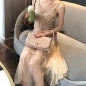 促銷綢緞褶皺珍珠包包晚宴包錬條斜背手拿包女 宜室