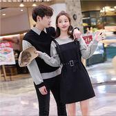 情侶裝 不一樣的氣質情侶裝春裝2019新款韓版寬鬆POLO領衛衣春季學生套裝 ZJ4801【Sweet家居】