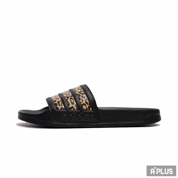 ADIDAS 拖鞋 ADILETTE SHOWER 黑豹紋 防水-FZ2856