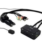 LINDY 帶線式 2埠 HDMI 電腦切換器