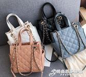 手提包 小CK大容量包包女韓版百搭手提簡約斜挎單肩錬條大包包 時尚芭莎