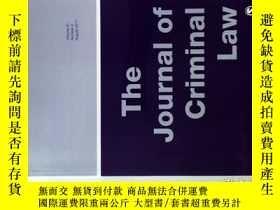 二手書博民逛書店THE罕見JOURNAL OF CRIMINAL LAW 08 2017 刑事法律原版學術期刊Y114412