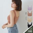 襯墊款性感美背方領半截背心-BAi白媽媽【310479】