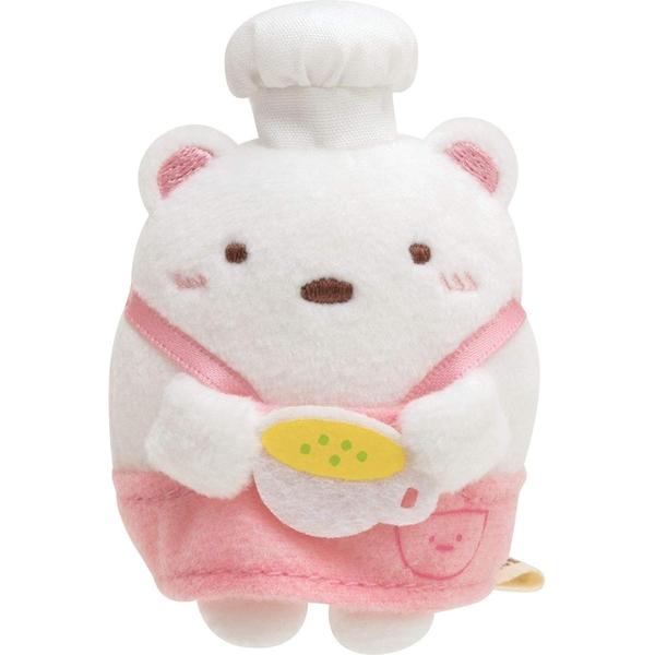 SAN-X 角落生物 玉米濃湯系列 迷你掌上型沙包絨毛玩偶 角落小夥伴 大白熊 白_XS77710
