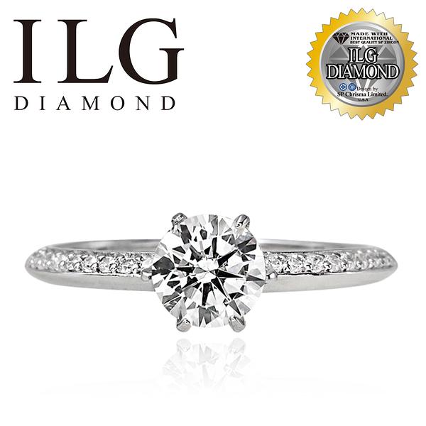 (零碼)【美國ILG鑽飾】Steadfast 堅定的心 0.75克拉 單排密鑽鑲嵌戒指 古典設計- RiQ10