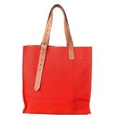 【台中米蘭站】全新展示品 HERMES Etriviere Bag布面可調式背帶直式肩背(橘)