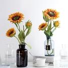 田園向日葵仿真花束裝飾套裝客廳餐桌擺件茶幾擺件大套裝花藝手工 LJ434【極致男人】