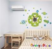 壁貼【橘果設計】外太空 靜音壁貼時鐘 不傷牆設計 牆貼 壁紙裝潢