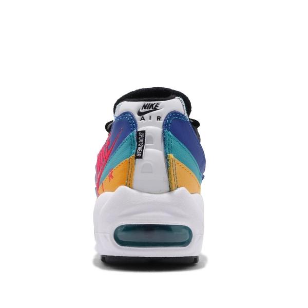 Nike 慢跑鞋 Air Max 95 Premium 白 紅 金 藍 女鞋 休閒鞋 氣墊 【ACS】 CI1900-123