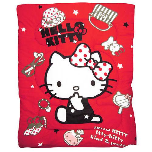 *粉粉寶貝玩具*㊣HELLO KITTY 時尚寶盒 毯被/蓋被/墊被~正版授權~附收納袋~台灣製MIT~熱情紅