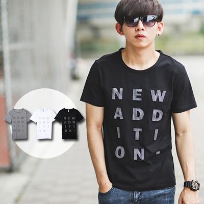 T恤 NEW ADDITION立體鋼印文字短T【NB0232J】