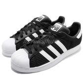 adidas 休閒鞋 Superstar 黑 白 特殊鞋面 貝殼頭 黑白 百搭款 男鞋 女鞋【PUMP306】 CM8078